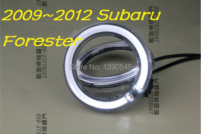 free ship 2009 2012 subaru forester led daytime running light 2pcs set wire of harness abs