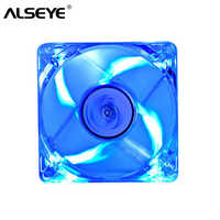ALSEYE 80mm LED PC Fan Cooler, 3pin & Molex 4D 12V 2200RPM 8cm Transparent Silent Cooling Fans (3 Color available)