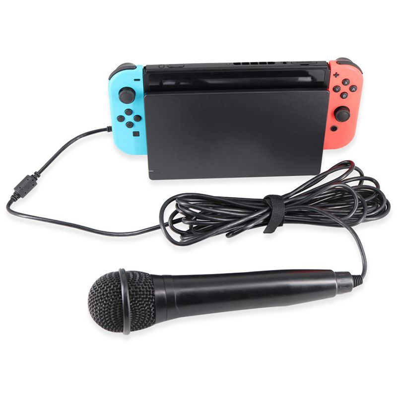 dynamic microphone for nintend switch ns ps4 wii pc xbox 360 xbox one universal usb 3m wired mic. Black Bedroom Furniture Sets. Home Design Ideas