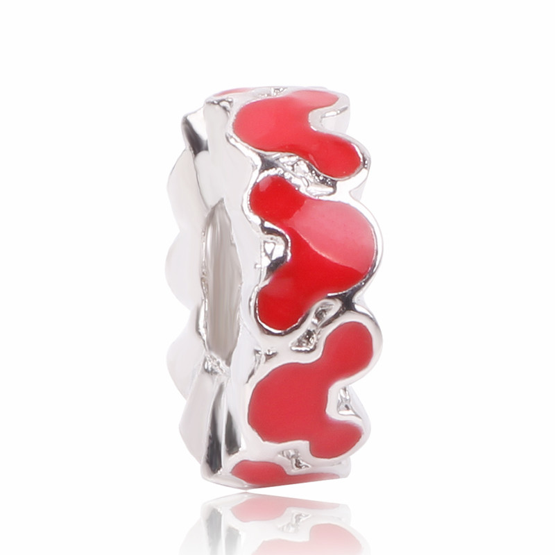 Ranqin 2018 Silver Color Mickey Shape Charm Beads Fit Original Pandora Charm Bracelet DIY Necklace Jewelry Gift