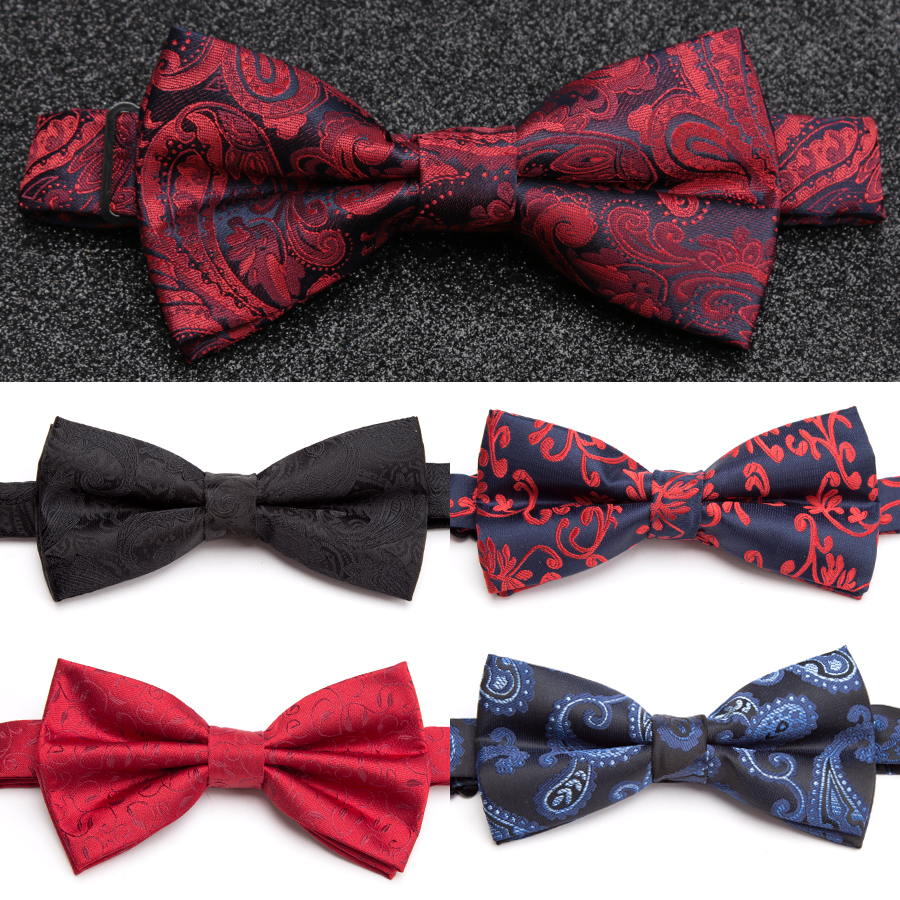 IHGSNMB Bowtie Fashion Men Bow Tie Striped Necktie Women Adjustable Butterfly Double Deck Neckwear Luxurious Bowtie Dress Ties