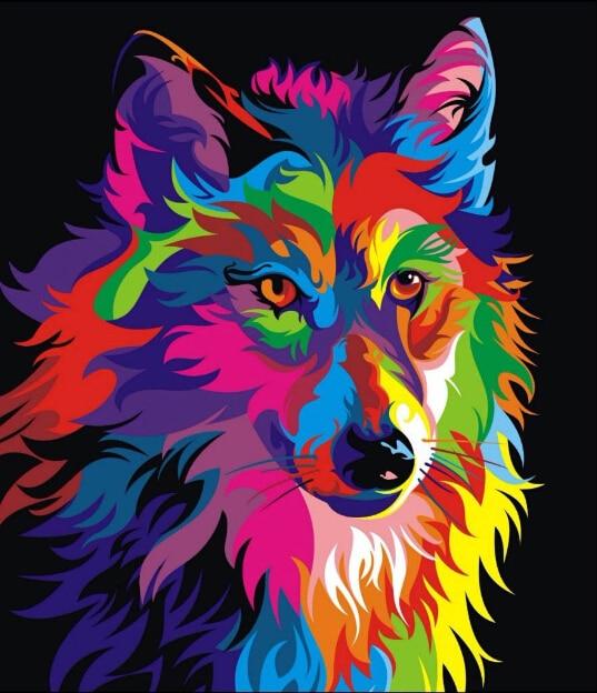 Színes állatok 5D DIY gyémántfestés teljes körű strasszos - Művészet, kézművesség és varrás - Fénykép 3