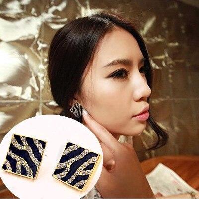 ES111 Leopard Stud Earrings Fashion Jewelry Women