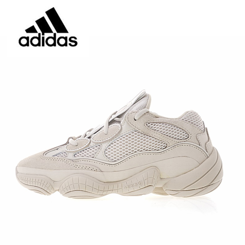 Best buy ) }}New Arrival Authentic Classic Adidas Yeezy Desert Rat 500 Blush Unisex Breathable Running Shoes