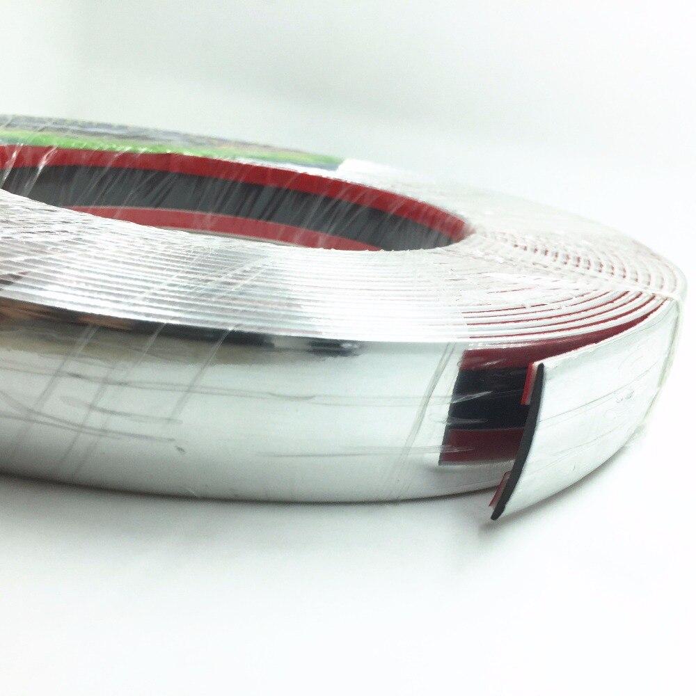 6meters 30MM DIY Molding Trim Decoration Car Styling Door Bumper Body Hood Windows Automotive Sticker Chrome