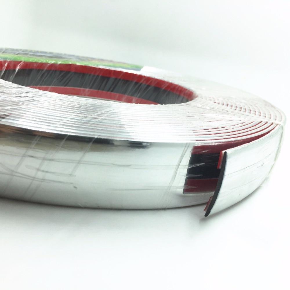 6meters 30MM DIY Molding Trim Decoration Car Styling Door Bumper Body Hood Windows Automotive Sticker Chrome Strip Accessories