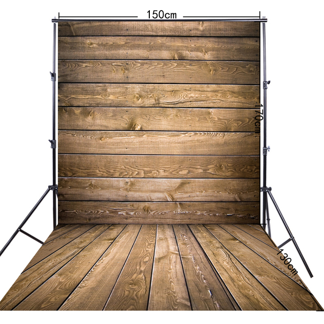 Plank 150 Cm.5x10ft 150 300cm Light Brown Wood Plank Photography Backdrops Ff