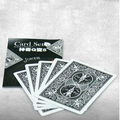 Q to 5 card set card magic tricks close up mentalism magic props