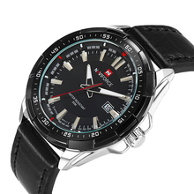 NAVIFORCE Men's Leather Quartz Wrist Watch Watch Sport Watches Waterproof erkekkol saati Man military Clock Relogio Masculino