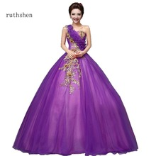ruthshen Stunning Quinceanera Dresses In Stock Cheap With One Shoulder Ball Gowns Appliques New Arrivals