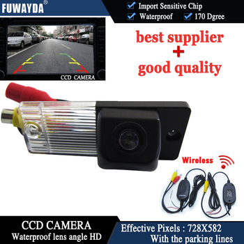 FUWAYDA Wireless CCD Car Rear View Reverse Back UP Parking Safety DVD GPS Navigation Kits CAMERA for Kia Cerato KIA CERATO HD image