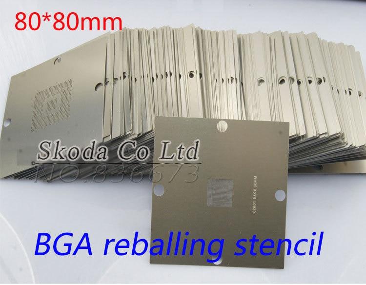 все цены на  241pcs /lot 80*80mm BGA Direct Heating Stencil,BGA Stencil,BGA Direct Heating Template For Laptop and Console  онлайн