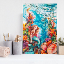 The Little Mermaid By Kerry Canvas Print Bedroom Home Decor Modern Wall Art Oil Painting Poster Framework HD