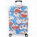 Doraemon gato Elástica Bagagem Capa Protetora Tolley Mala de Viagem das Crianças Dos Desenhos Animados Saco Tampa Protetora Contra Poeira caixa de Acessórios Suprimentos