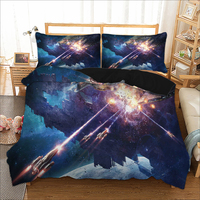 Bedding Set 3D Print Design Duvet Cover Sets King Queen Twin Size Dropshipping Gift for children Space ship 3pcs 042300