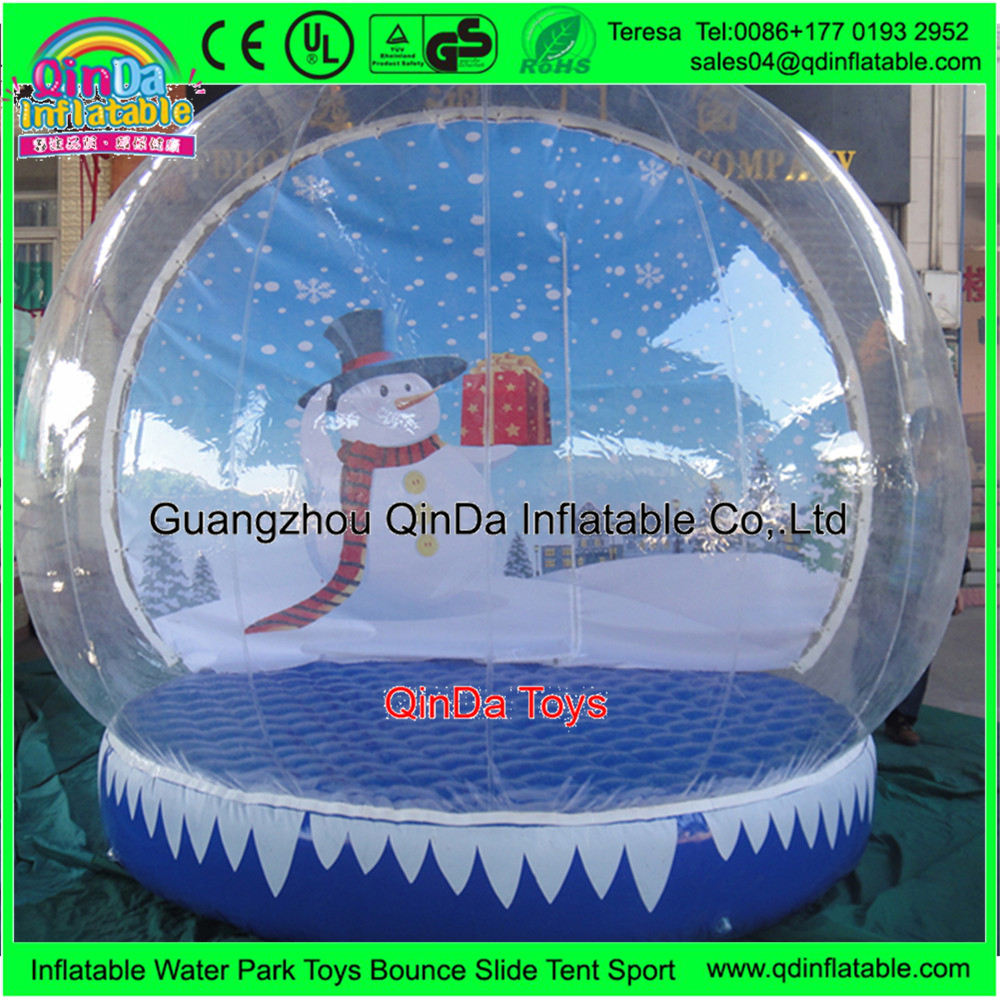 Inflatale Photo Booth Christmas Inflatable Snow Globe Ball Blow Up Snowball  Snow Balloons For Outdoor Decoration