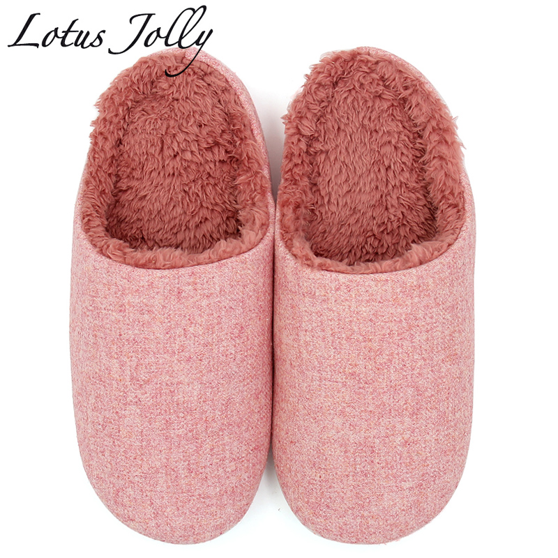 Women Shoes Winter Plush House Slippers Comfort Fur Warm House Slippers Indoor Outdoor Candy Color Couple Zapatillas Mujer 2018 winter women slippers lovely cotton dog cat house slippers ladies plush fur warm outdoor indoor slippers zapatillas mujer