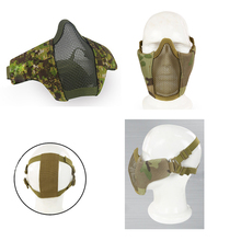 Зеленая тактическая маска для лица из металла и нейлона, защитная полумаска для страйкбола, пейнтбола