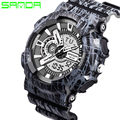 2017 SANDA Men Women Watch LED Digital Watch Fashion Casual Wristwatch Sports G Style Shock Watch Rubber Strap Relogio Masculino