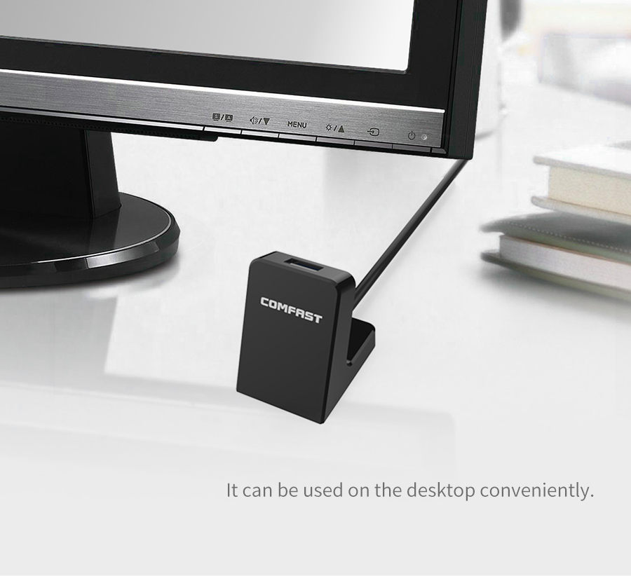 COMFAST Mini USB WiFi Adapter 600Mbps with extension cable Wireless Network Card Adaptador wi-fi Dongle 802.11n/b/g/ac