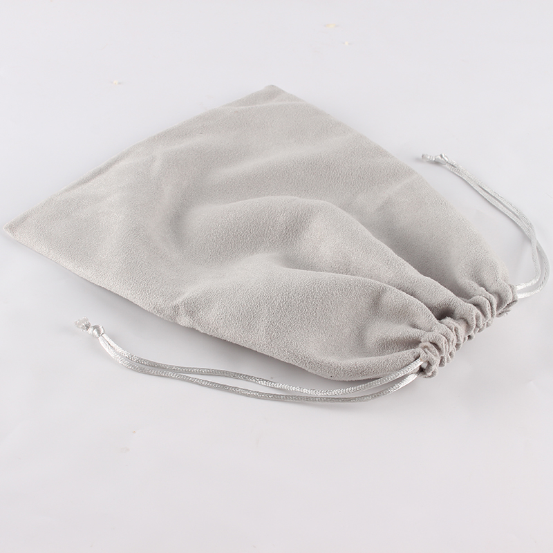 5pcs/lot 20*25cm Double Side Suede Bag Custom Logo Print Pouch Drawstring Bags Christmas Gift Bag