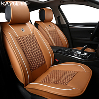 KADULEE ice silk car seat covers for mazda 626 toyota c hr rav4 prius kia cerato k3 hyundai accent auto accessories car styling