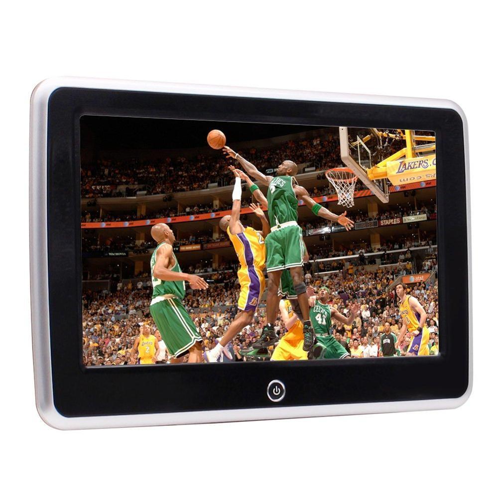 10.1 inch Touch Screen Car NO DVD CD Player High Headrest Monitor Support Games/WiFi HDMI Input AV Input & Output 4K/1080P Video