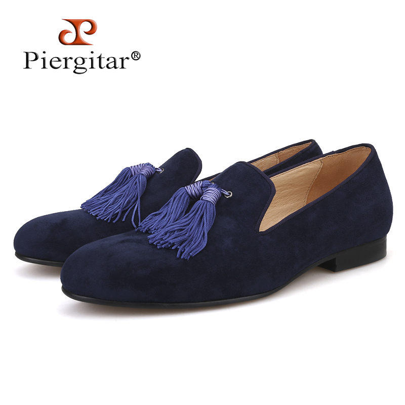 Piergitar 2019 New Five colors handmade men suede shoes