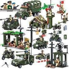 Enlighten edukacyjne klocki zabawki dla dzieci prezenty armia wojskowy cars planes helicopter broń kompatybilny z legoe