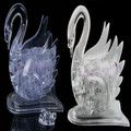 3D Crystal Puzzle Jigsaw Model DIY Swan IQ Toy Gift Souptoy Furnish Gadget