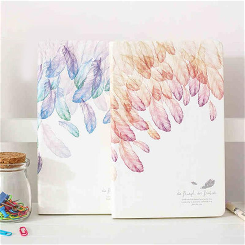 Cartoon Feathers Colored Notebook Paper A5 Journal Notebook Paper Diary Writting Planner School Supplies kitpac101058pacp6409 value kit pacon peacock sulphite construction paper pacp6409 and pacon array colored bond paper pac101058