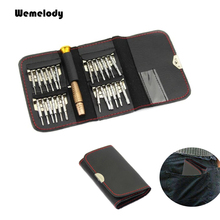 25 in 1 screwdriver set mobile phone repair tool with leather bag torx screw driver hardware tools for cell iphone samsung sony