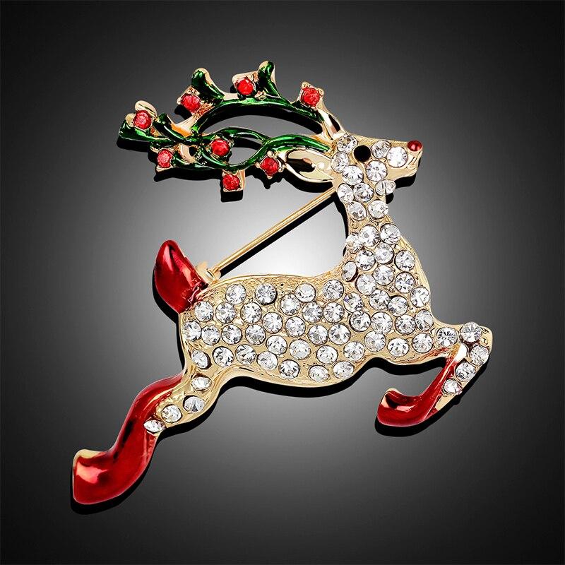 XIAOJINGLING Moda Rhinestones Di Cristallo Di Natale Spilla Pins Oro  Accessori di Tendenza di Lusso Deer bts Spille Animali Per Le Donne in  XIAOJINGLING ... 01bab7cd3b7e
