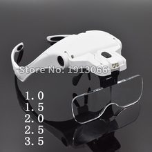 Helmet Hands free Magnifying Glass Loupe Illuminated Magnifier with LED Light for dental tools