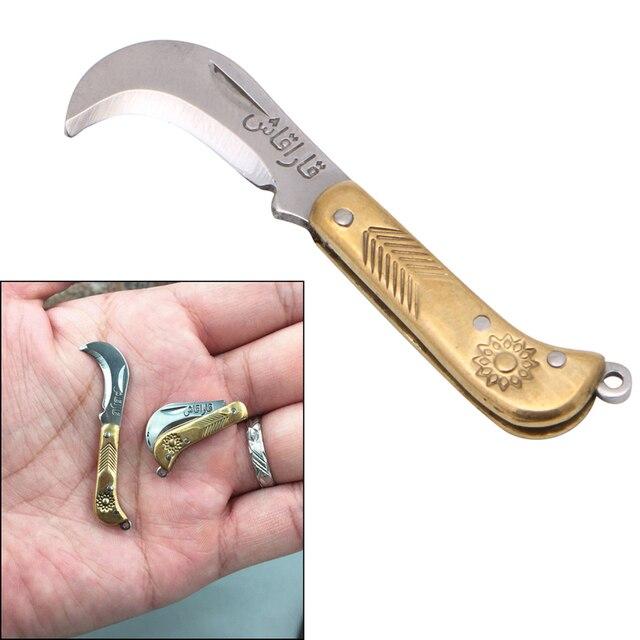 Эми мини ретро Вырезка небольшой карман брелок складной папку Ножи латунь Новые приятные подарки