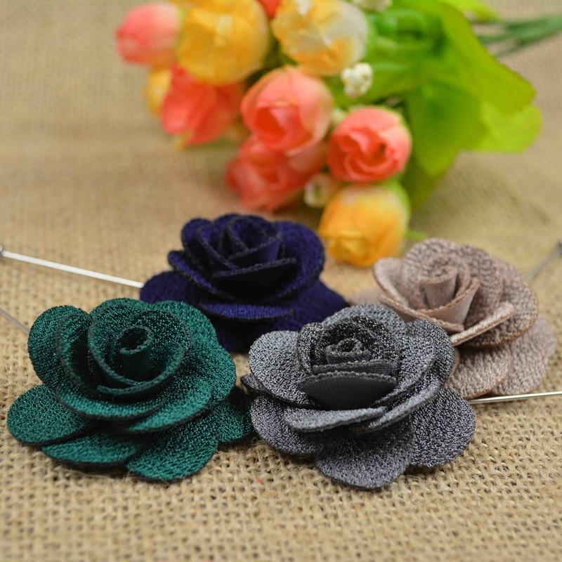 Brooch Flower Lapel Pin 18 Colour Կանանց Տղամարդկանց - Նորաձև զարդեր - Լուսանկար 3