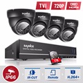 SANNCE 8CH CCTV System 720P HDMI TVI CCTV DVR 4PCS 1.0 MP IR Outdoor Security Camera 1200 TVL Camera Surveillance System with 1T