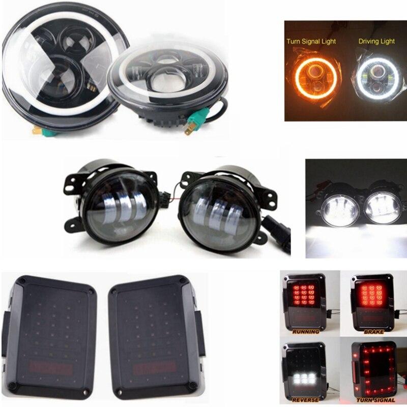 ⑤45 W LED faro con halo DRL y 4 llevó la luz de niebla y luz ...