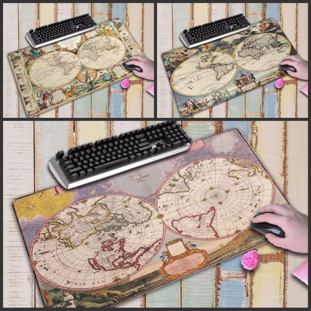 75b6a522dbb Mairuig Old World Map Large Gaming Mouse Pad Lockedge Mouse Mat Keyboard  Pad Desk Mat Table Mat Gamer Mousepad for Laptop
