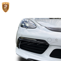 High quality carbon fiber headlight covers for porsche 718 boxter 2016 2017 protection car decoration strips car accessories hot