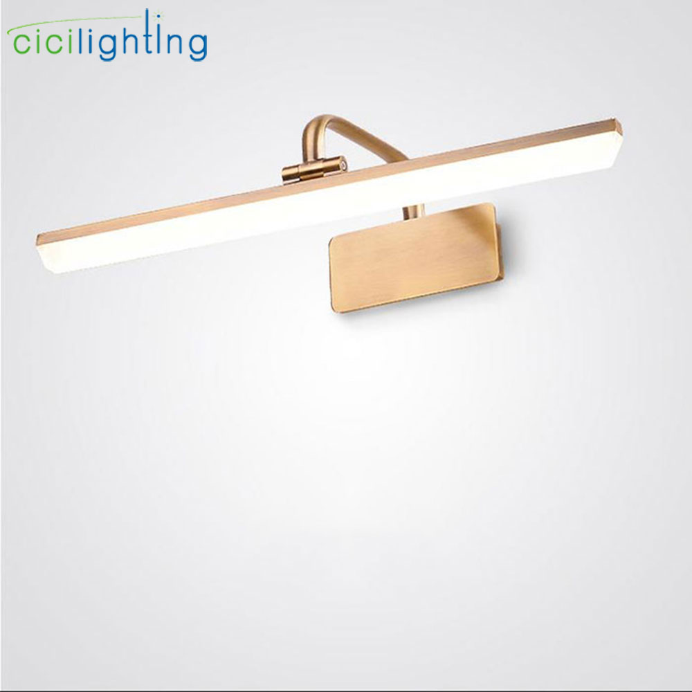 AC110V 120V 220V 240V Bronze LED vanity lights modern cabinet front mirror light led bathroom vanity waterproof wall lamps