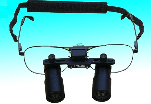 3.5X Professional Medical Surgical Loupes Dental Binocular Magnifier ENT Microsurgery Operation Kepler Loupe Glasses With Box