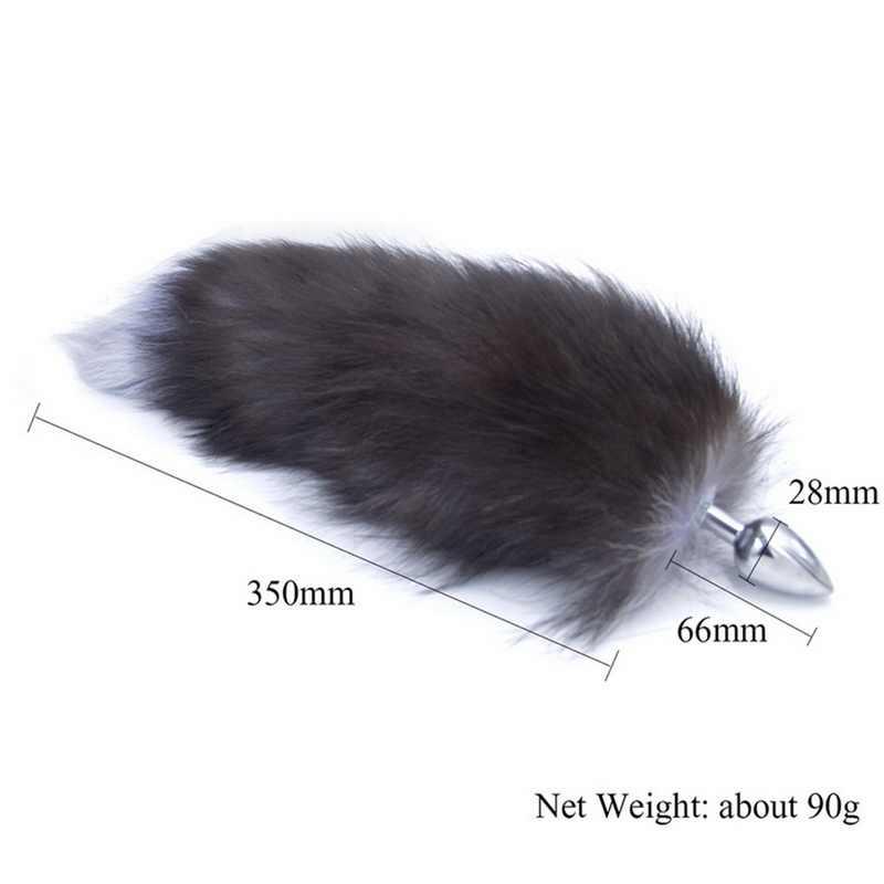 Bfaccia Anal ปลั๊กขนาดใหญ่จริง Fox Tail โลหะซิลิโคน Butt Plug ของเล่นเร้าอารมณ์หาง RolePlay คอสเพลย์ G Spot ผู้ใหญ่ผลิตภัณฑ์