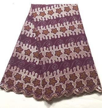 Best Selling Flower Soft Cotton Women Dress Swiss Voile Lace High Quality Embroidered Fabric DIY Trim Sewing African Lace Fabric