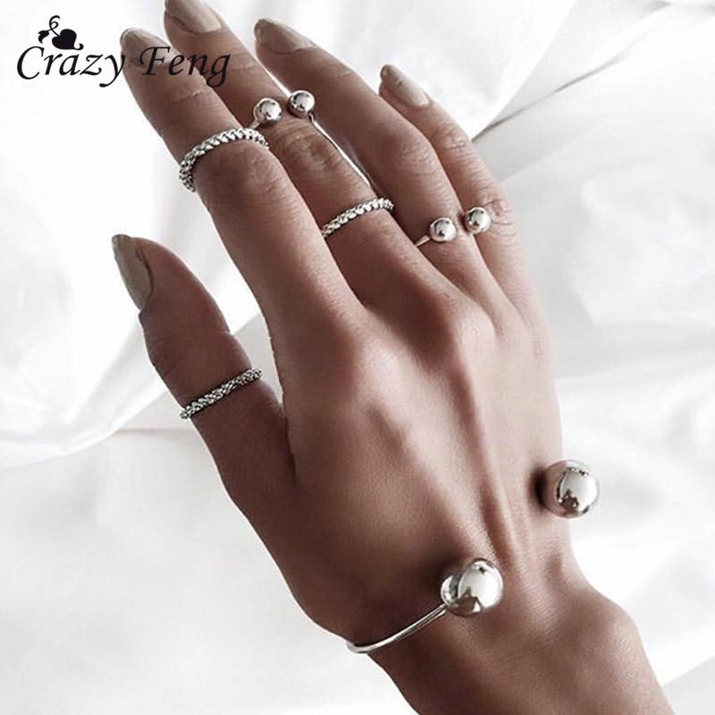8 Stücke Zarte Frauen Schmuck-set Armband Armreif Knuckle Midi Ring Kleid Zubehör Hochzeit Brautschmuck Sets Schmuck & Zubehör Hochzeits- & Verlobungs-schmuck
