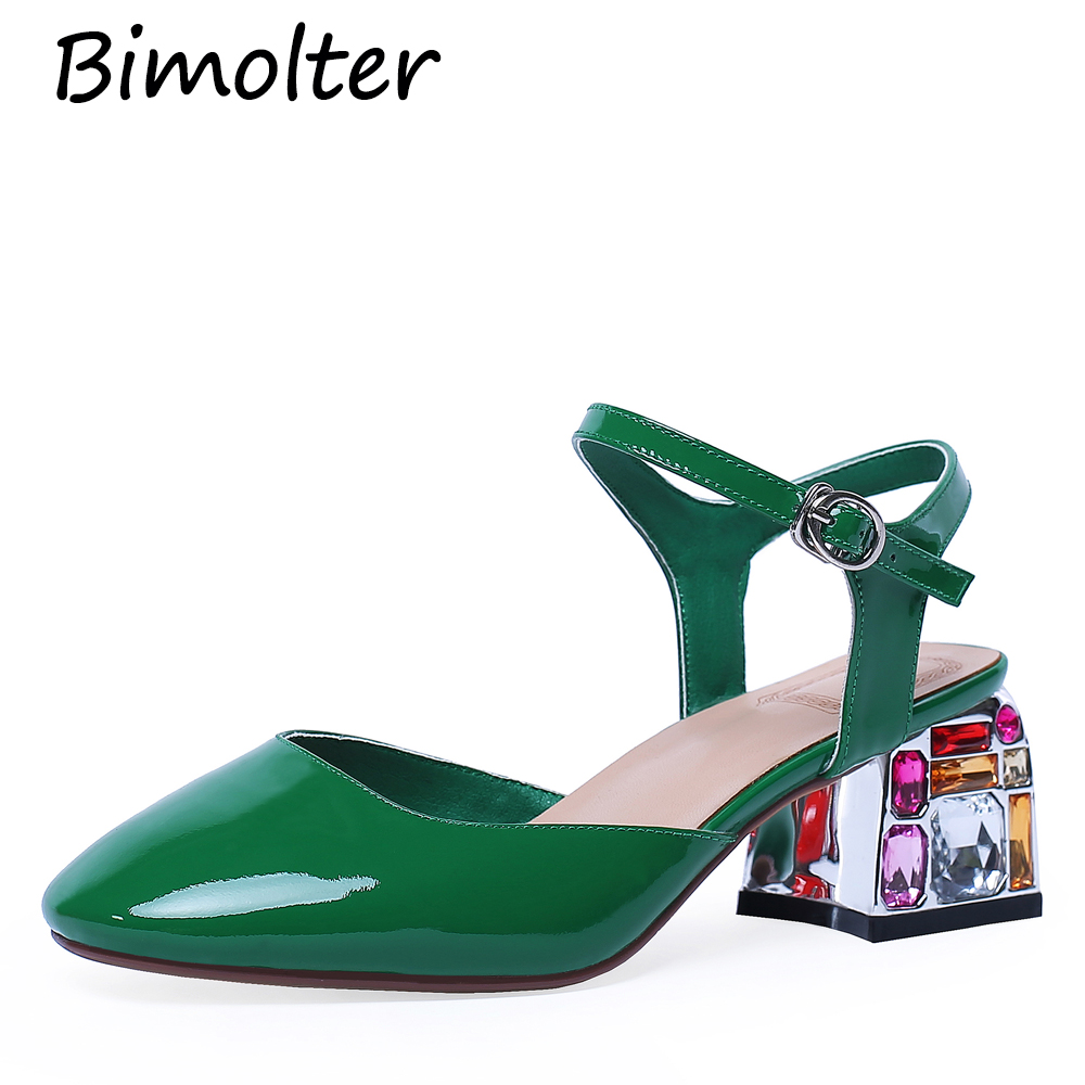 Bimolter Gladiator Women Sandals Crystal High Heels Wedding Prom Shoes Woman Summer Ladies Pumps Female Rhinestone NB140