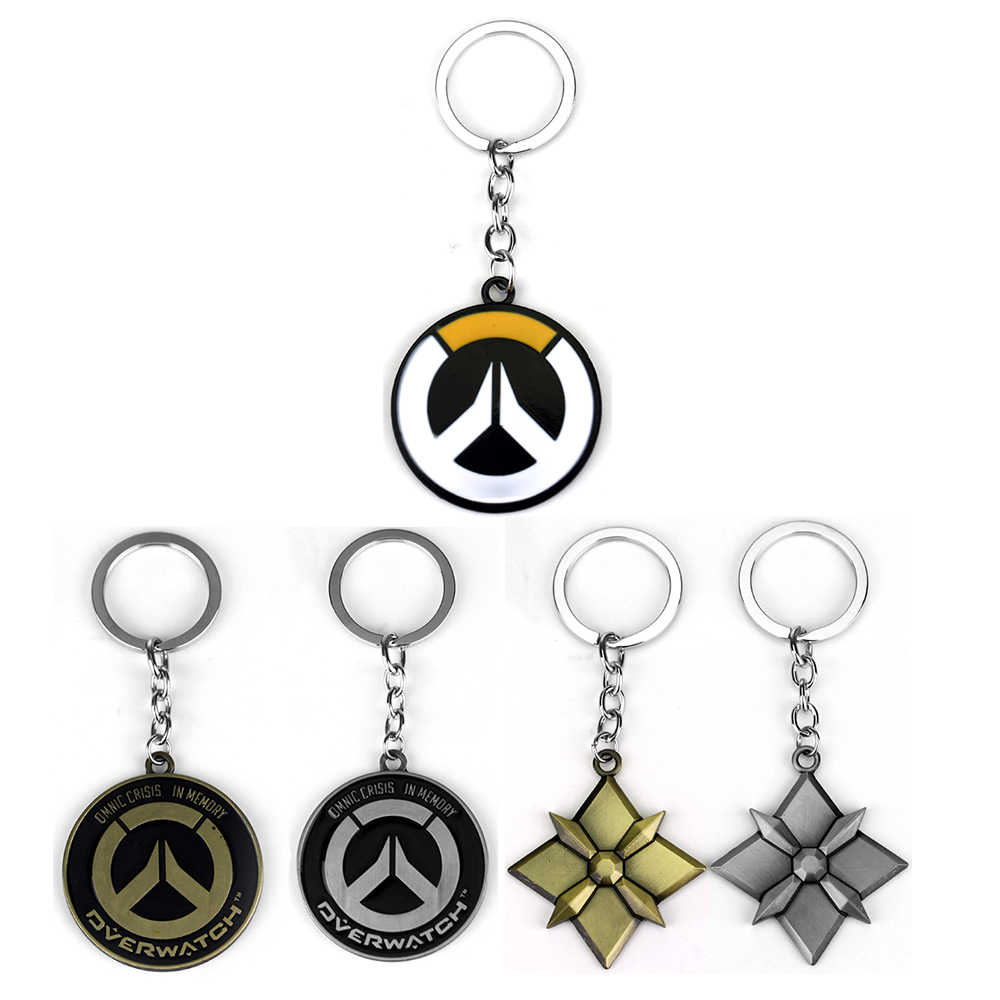 Hot Game Overwatch Key Chains Holder Fashion Metal Alloy OW Keychains Keyrings Jewelry Gift For Man Boy