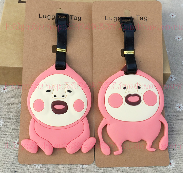 Label Tag-Suitcase Luggage Travel-Accessories Tags-Holder Id-Address Anime New Pink Kobito