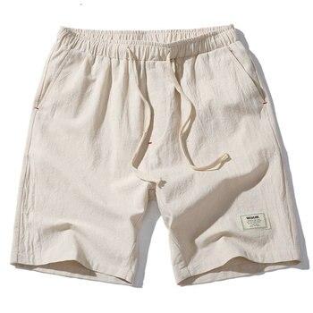2018 Hot Fashion Men Short Pants Summer Linen Men Shorts Casual Slim Solid Beach Bermuda Shorts