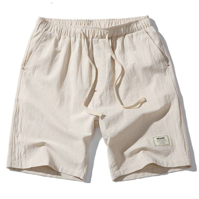 2018 Hot Fashion Men Short Pants Summer Linen Men Shorts Casual Slim Solid Beach Bermuda Shorts